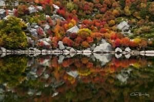 Laguna negra en otoño